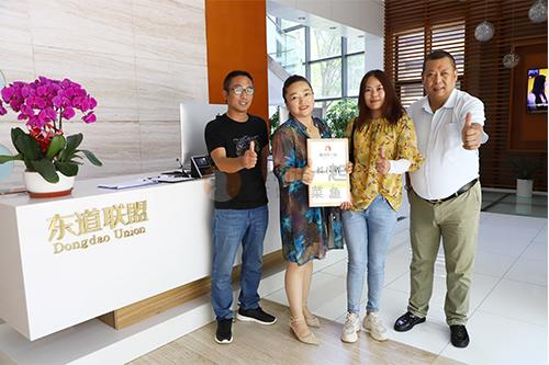 恭喜:刘女士6月10日成功签约鱼你在一起北京店